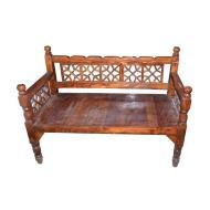 تخت سنتی چوبی دو نفره چوب نو